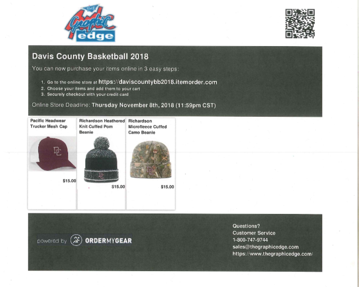 Basketball Apparel Order Form