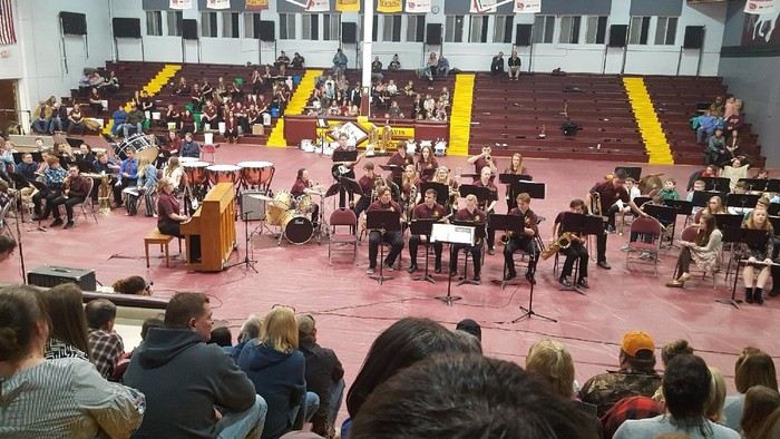 Our Davis County 5-12th grade bands hosted a band concert back on February 21st. If you ever get the chance to attend a concert, we have some really amazing and talented musicians here at Davis County!